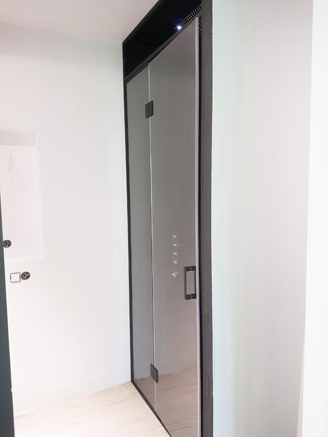 gdel - prysznic z czarna ramą